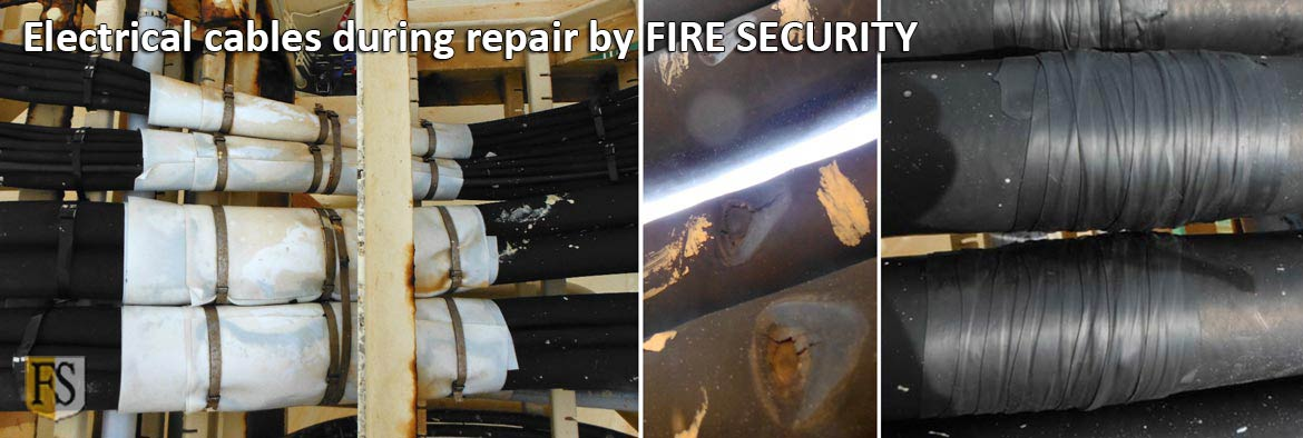 Cable repair on LNG ship by Fire-Security