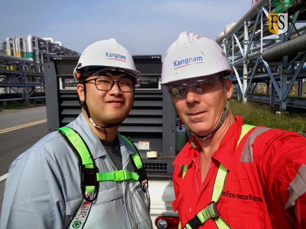 Fire Protections Services done by Ki Beom Lee, Kangnam Drive and Paal Mathisen, Fire-security Asia