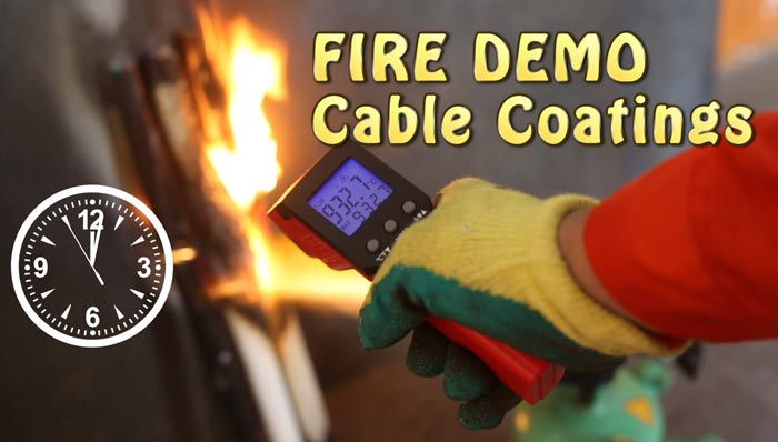 fire protection coating demo test on cables