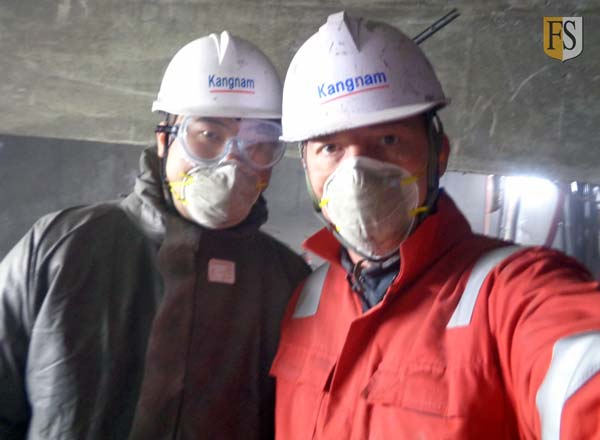 Fire protection project with Kibeom Lee, Kangnam Drive, Paal Mathisen Fire Security