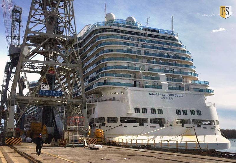 Majestic Princess cruise ship will have cable fire protection by Fire Security
