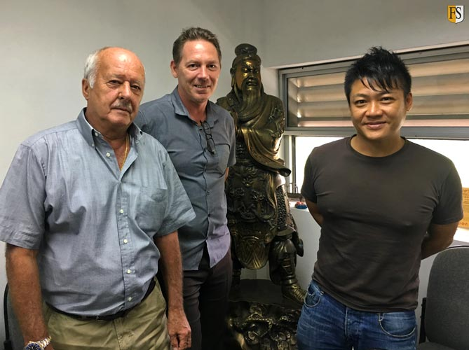 Steve Baldry and Paal Mathisen - Fire Security, Meeting with Ron Lim from Boon Hong Engineering in Singapore.