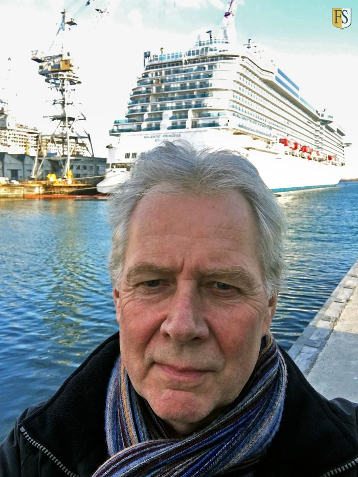 Terje Waage visiting Fincantieri shipyard where some of our cable protection jobs take place.