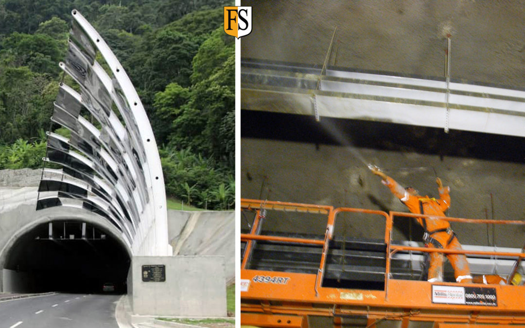Fire protection of 14.000 m2  of electrical cables in Brazilian tunnel