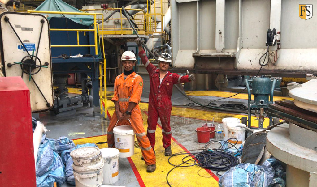 Cable protection on Jackup-rig Maersk Completer in Singapore