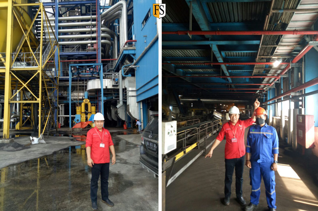 Cable survey at power plant in Sumatra