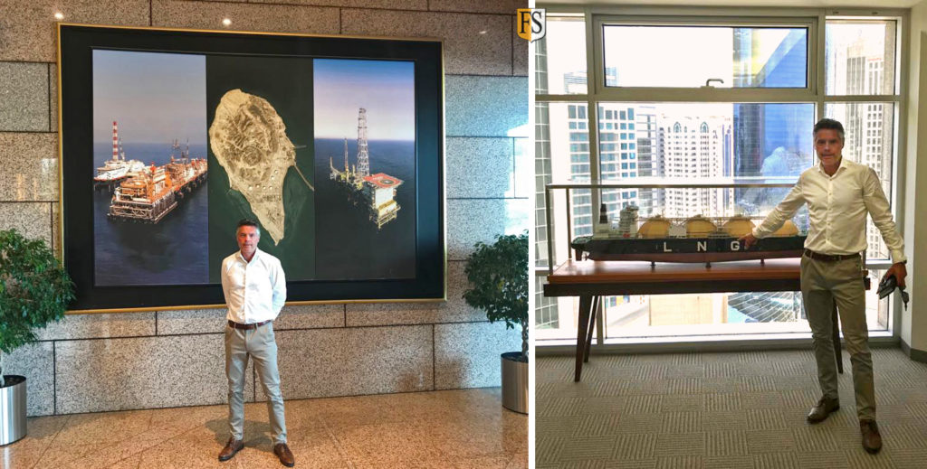 Fire Security chairman at work in Abu Dhabi visiting National Gas Shipping Company
