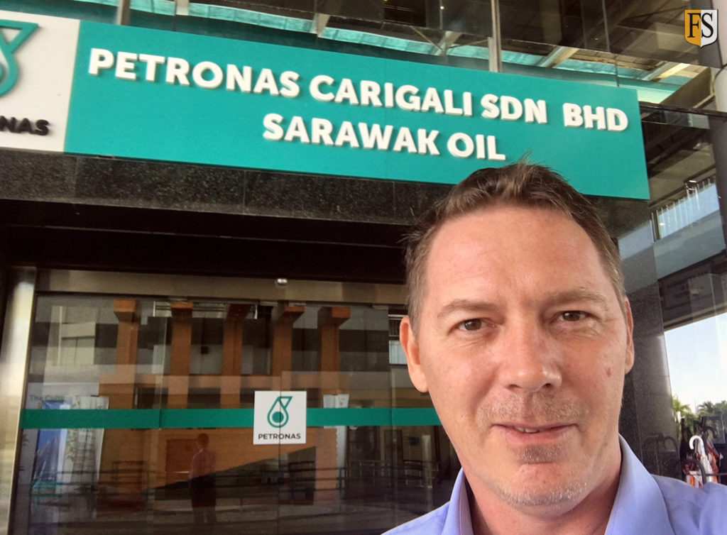 Fire Security in talks with Petronas Carigali, here at Sarawak Oil in Miri