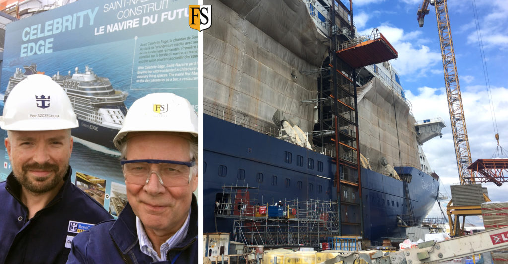 Terje Waage made a survey onboard first ship today in St Nazaire with Piotr Szczechura - Senior Superintendent Electrical RCCL