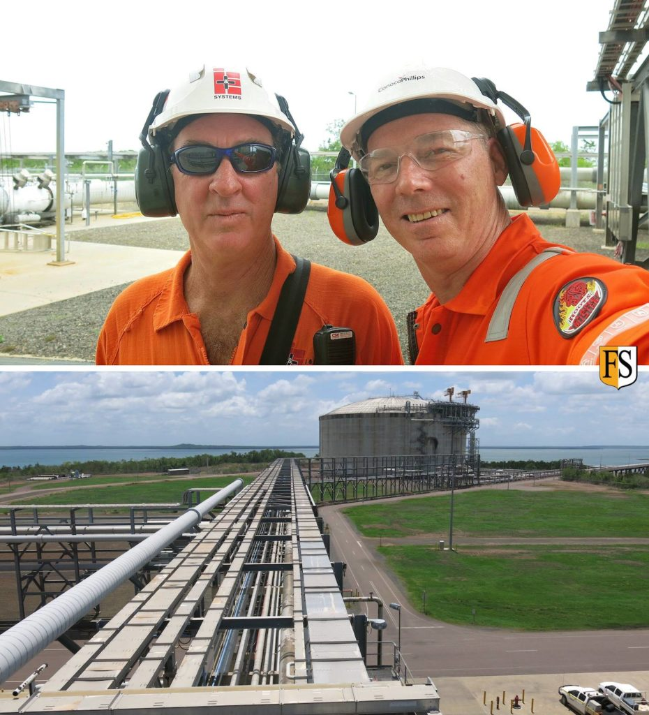 Cable inspection at ConocoPhillips' LNG plant in Darwin Australia