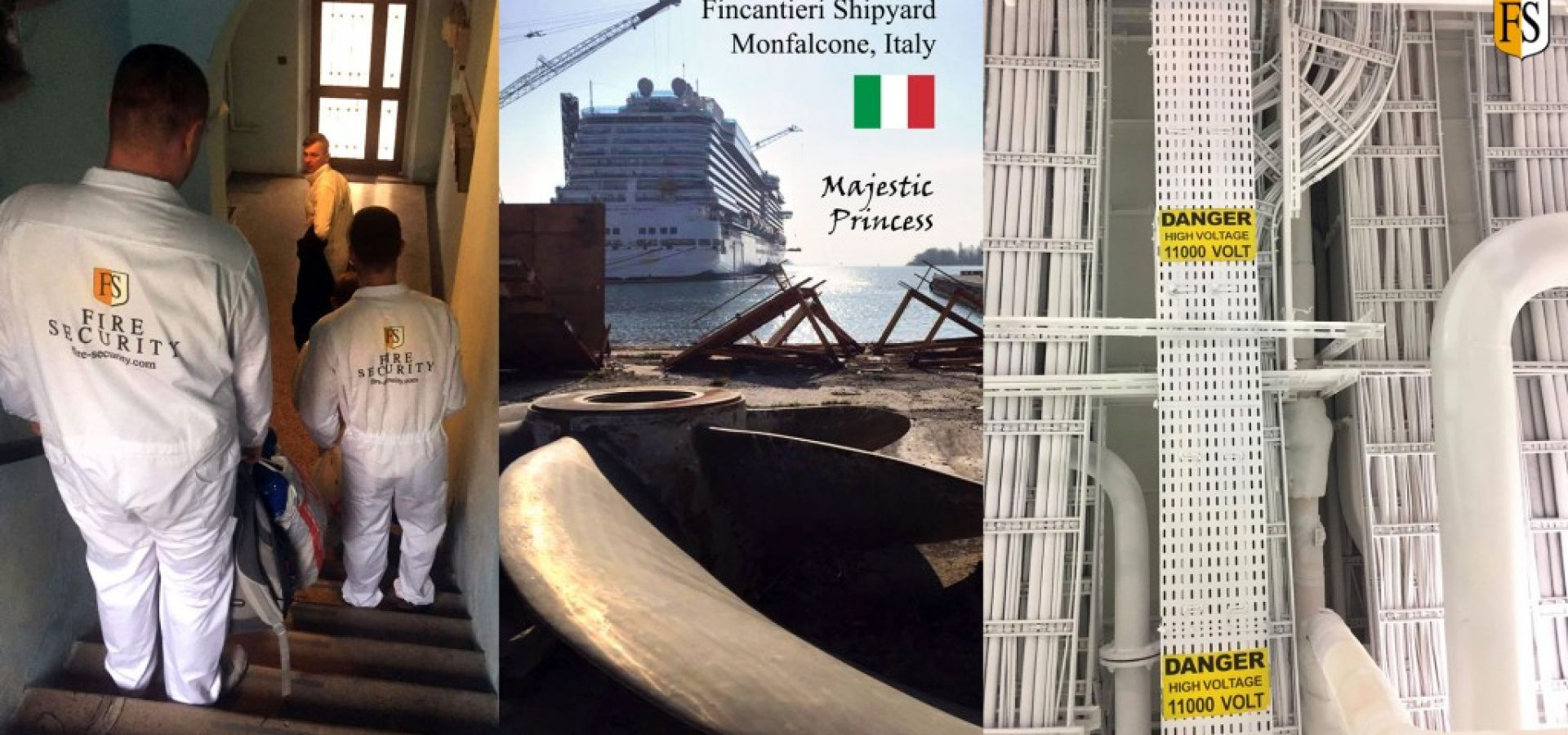Fire-protection-cable-coating-by-Fire-Security-onboard-Majestic-Princess-at-FIncantieri-shipyard